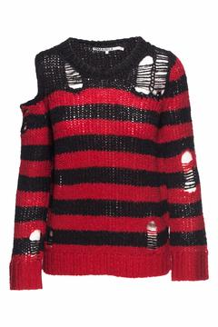 Pam & Gela Destructed Stripe Sweater - Product List Image