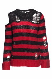 Pam & Gela Destructed Stripe Sweater - Product Mini Image