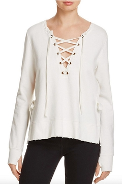 Shoptiques Product: Lace Up Front Sweatshirt