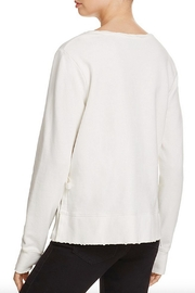 Pam & Gela Lace Up Front Sweatshirt - Front full body