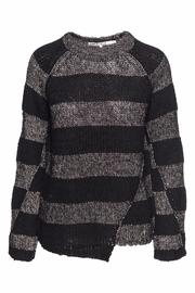 Pam & Gela Metallic Stripe Sweater - Product Mini Image