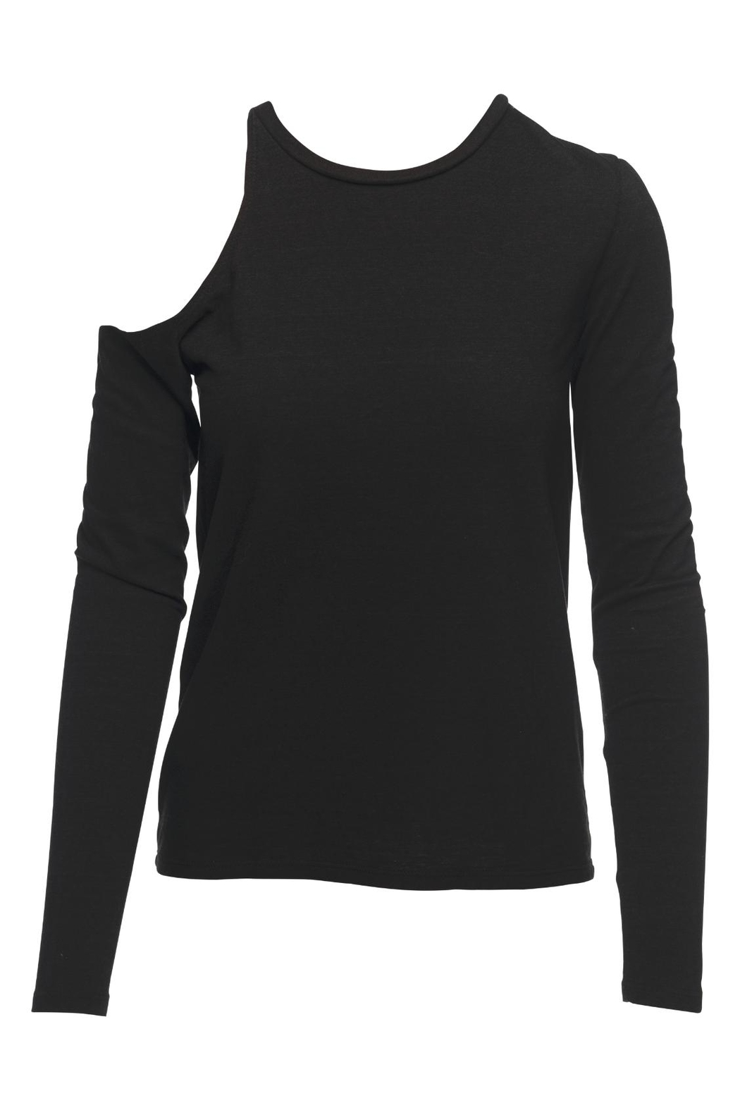 Pam & Gela Shoulder Cutout Tee - Front Cropped Image