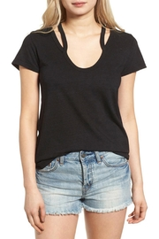 Pam & Gela Split Shoulder Tee - Product Mini Image