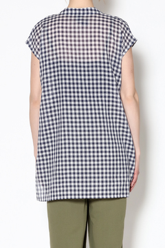 Pamela Mayer Blue Gingham Top - Alternate List Image