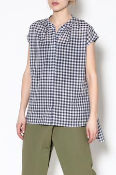Pamela Mayer Blue Gingham Top - Product List Image