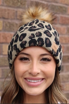 Panache Leopard Knit Beanie - Alternate List Image