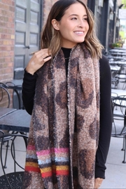 Panache Long Fringe Scarf - Front full body