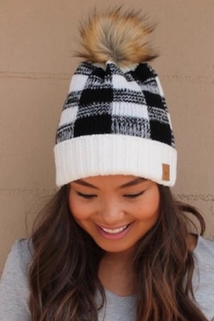 Panache Plaid Knit Beanie - Alternate List Image
