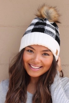 Panache Plaid Knit Beanie - Product List Image