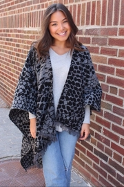 Panache Snake Print Cape - Front full body