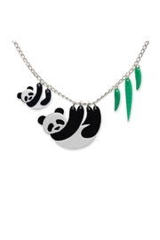 Little Moose Panda Family Necklace - Front cropped