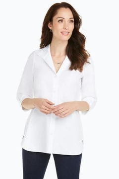 Foxcroft Pandora Pinpoint Blouse - Alternate List Image