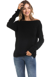 R+D emporium  Panel Open Back Sweater - Side cropped