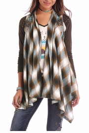 Panhandle Slim Aztec Embroidered Vest - Product Mini Image