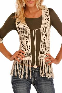 Shoptiques Product: Crocheted Fringe Vest