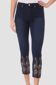 Shoptiques Product: Pant with Floral Embroidered Legs