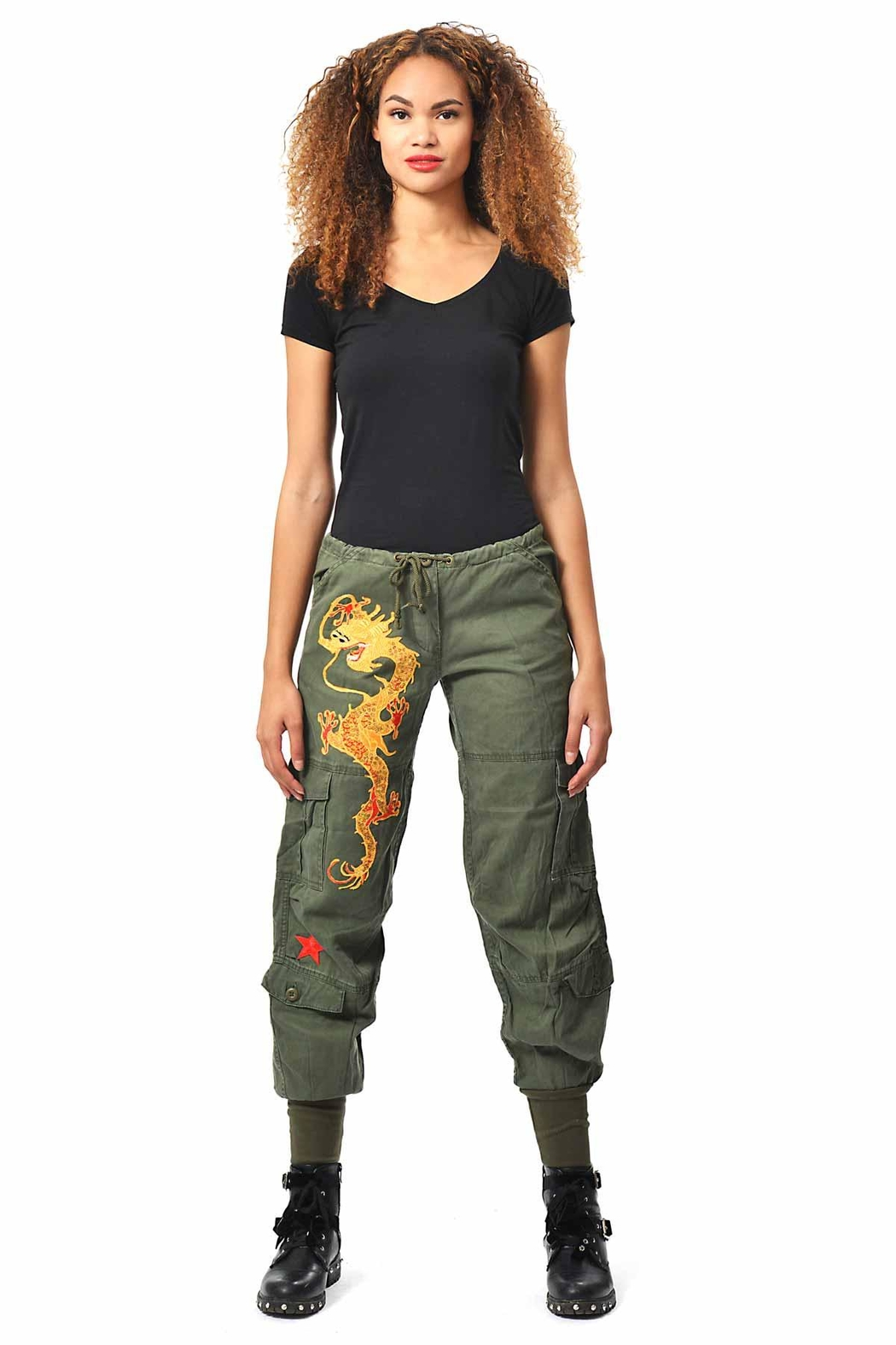 Gypsetters Pants Cargo Dragon - Front Full Image
