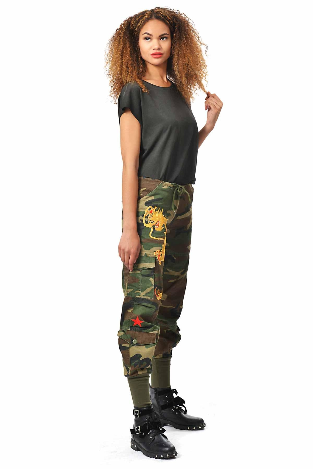 Gypsetters Pants Cargo Dragon - Front Cropped Image
