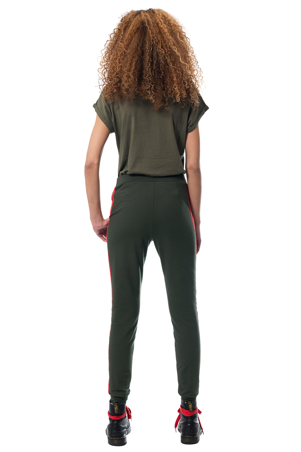 Gypsetters Pants Red Stripe - Side Cropped Image