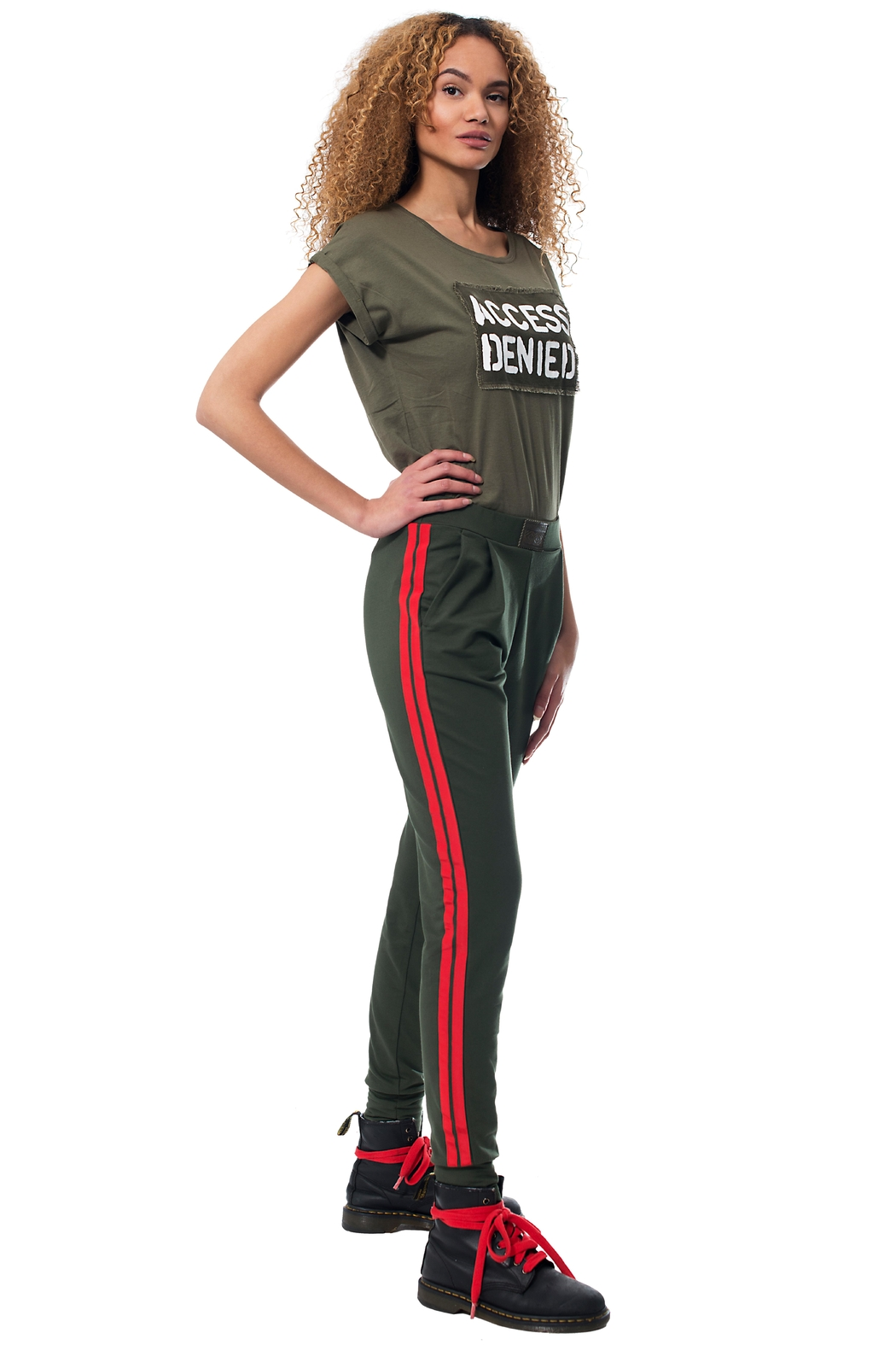 Gypsetters Pants Red Stripe - Main Image