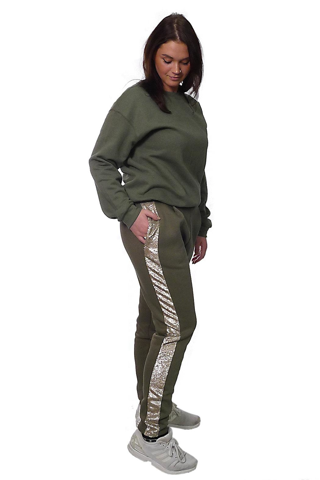 Gypsetters Pants Sequin Stripe - Side Cropped Image