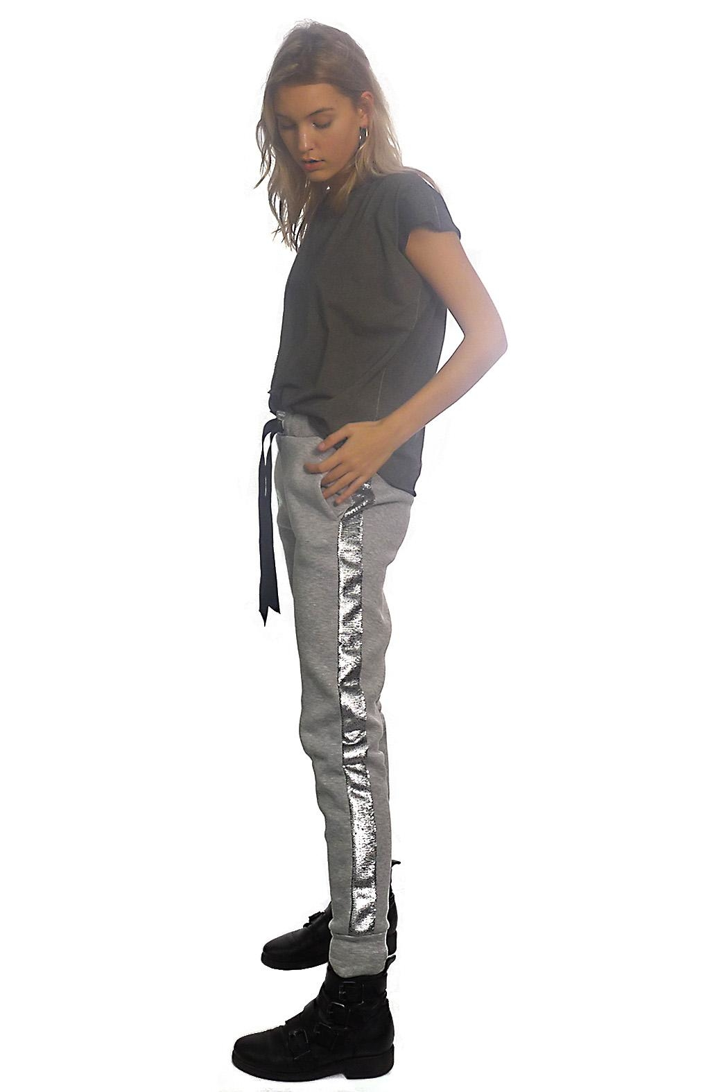 Gypsetters Pants Sequin Stripe - Front Cropped Image