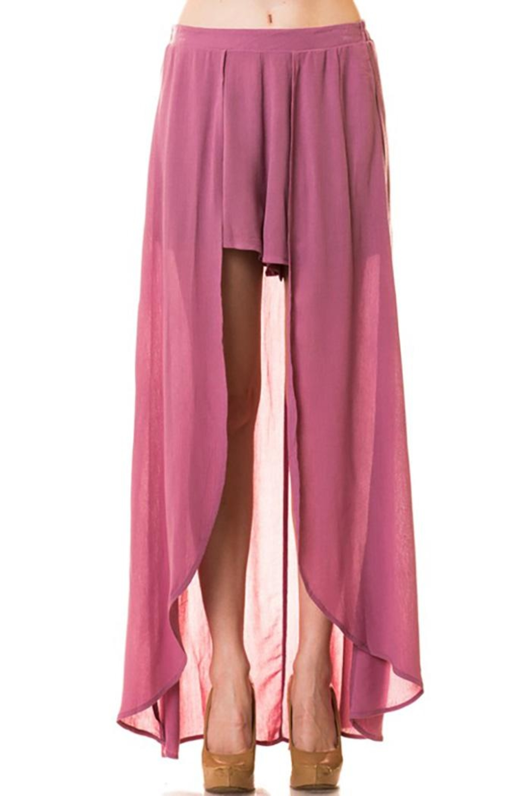 Lovetree Pants With Long-Skirts - Front Cropped Image