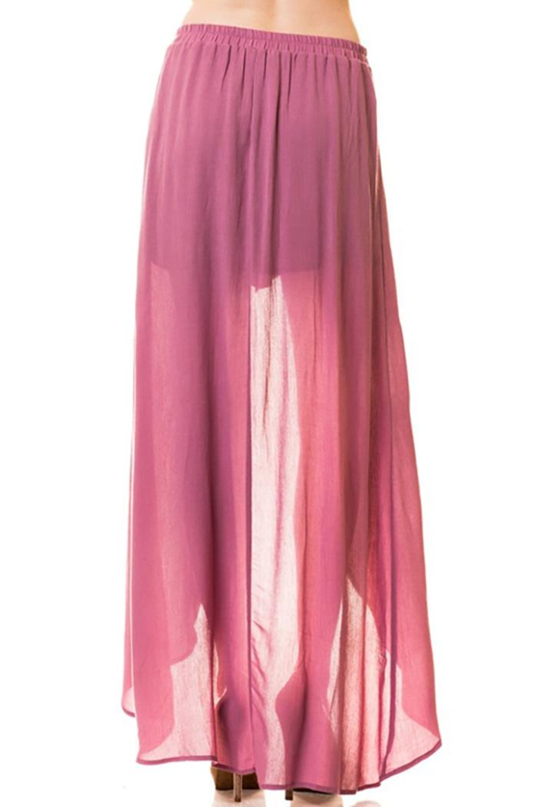Lovetree Pants With Long-Skirts - Front Full Image