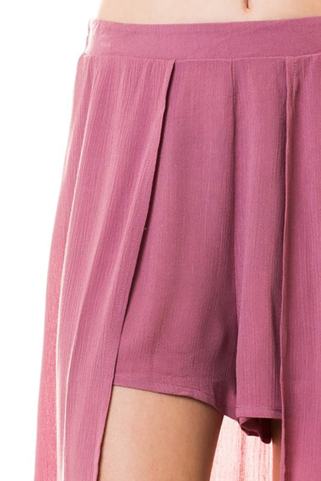 Lovetree Pants With Long-Skirts - Back Cropped Image