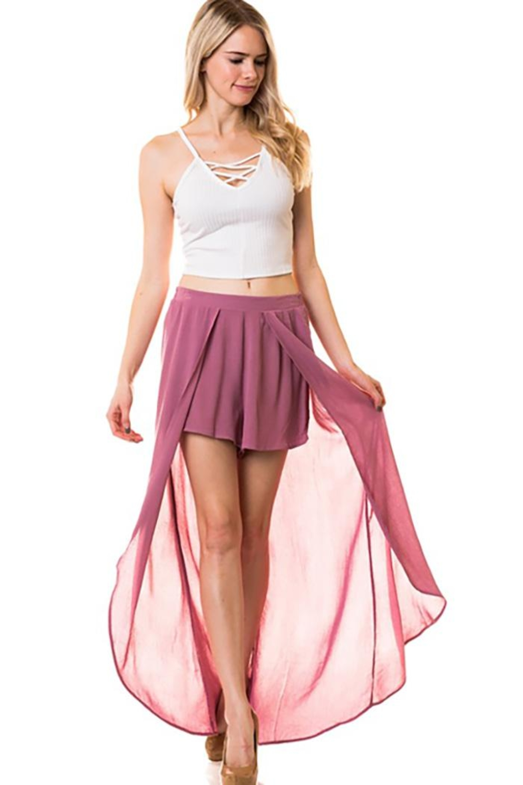 Lovetree Pants With Long-Skirts - Side Cropped Image