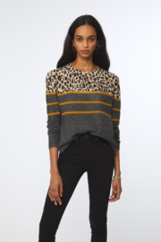Beach Lunch Lounge Paola Multi Pattern Sweater - Front cropped