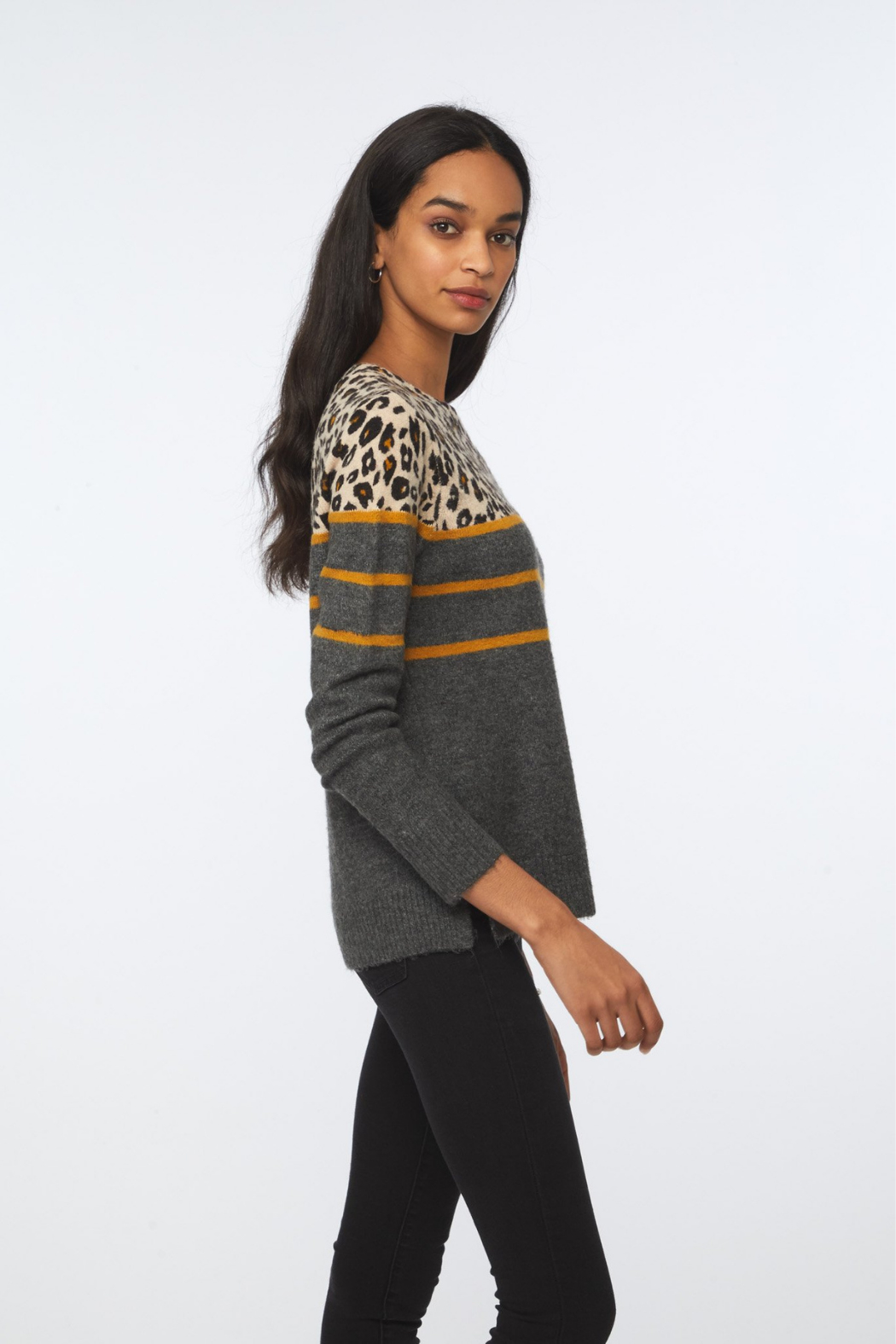 Beach Lunch Lounge Paola Multi Pattern Sweater - Front Full Image