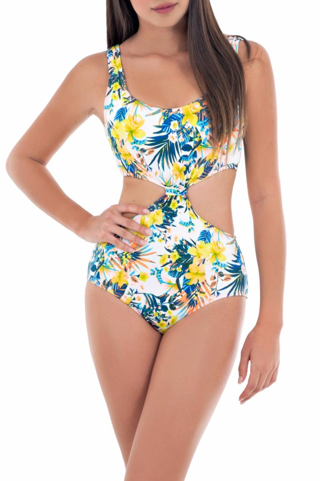 Paola Amador Flower Knot Swimwear - Front Cropped Image
