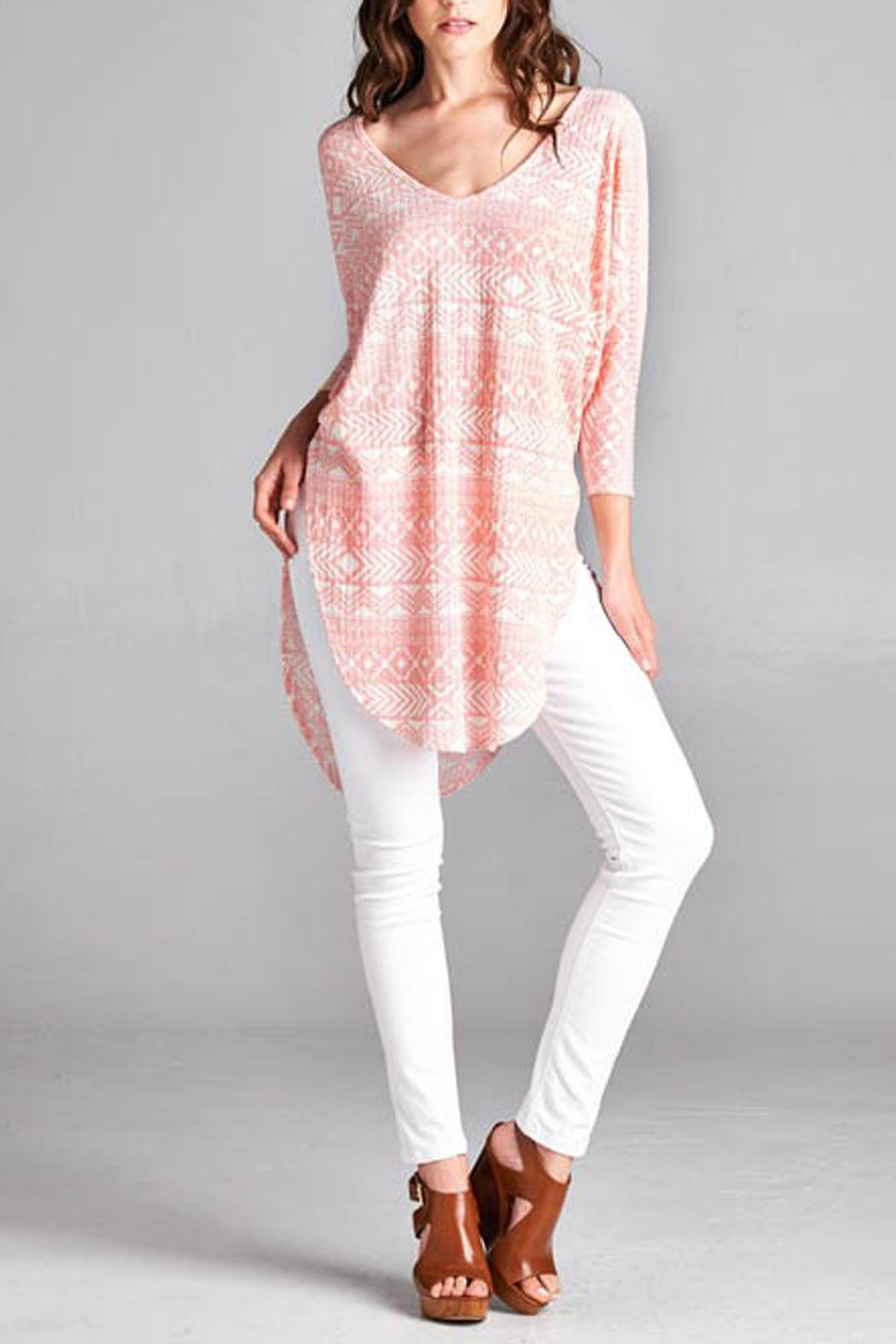 Paolin Geometic Tunic Top - Main Image