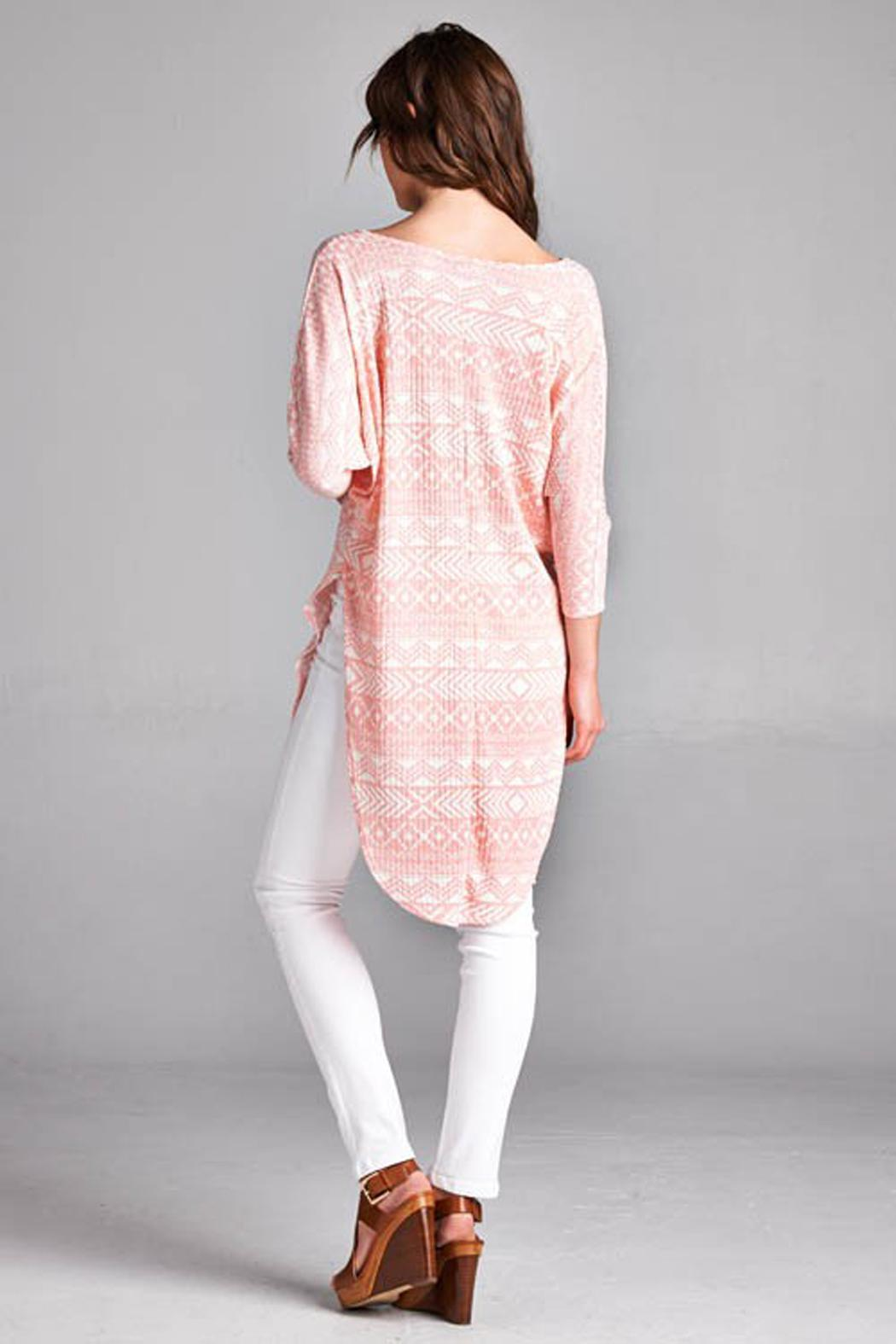 Paolin Geometic Tunic Top - Side Cropped Image