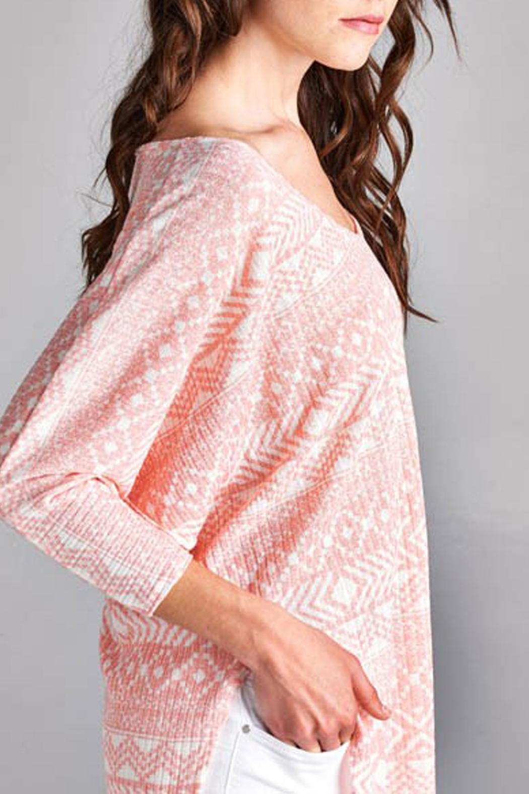 Paolin Geometic Tunic Top - Back Cropped Image