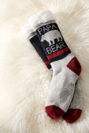 Giftcraft Inc.  Papa Bear Sherpa Socks - Product Mini Image