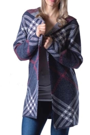 Papa Fashions Hooded Sweater Coat - Front cropped