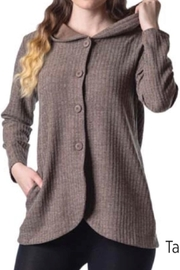 Papa Fashions Hoodie Jacket With Buttons - Front cropped