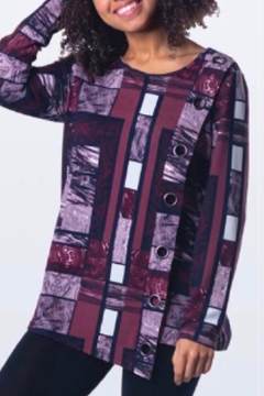Papa Fashions Print Grommet Tunic - Alternate List Image