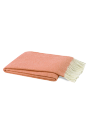 The Birds Nest PAPAYA ITALIAN HERRINGBONE THROW - Front cropped