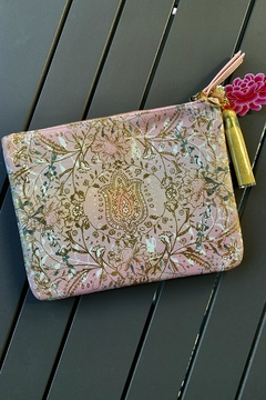 Papaya Paisley Tassel Pouch - Product List Image