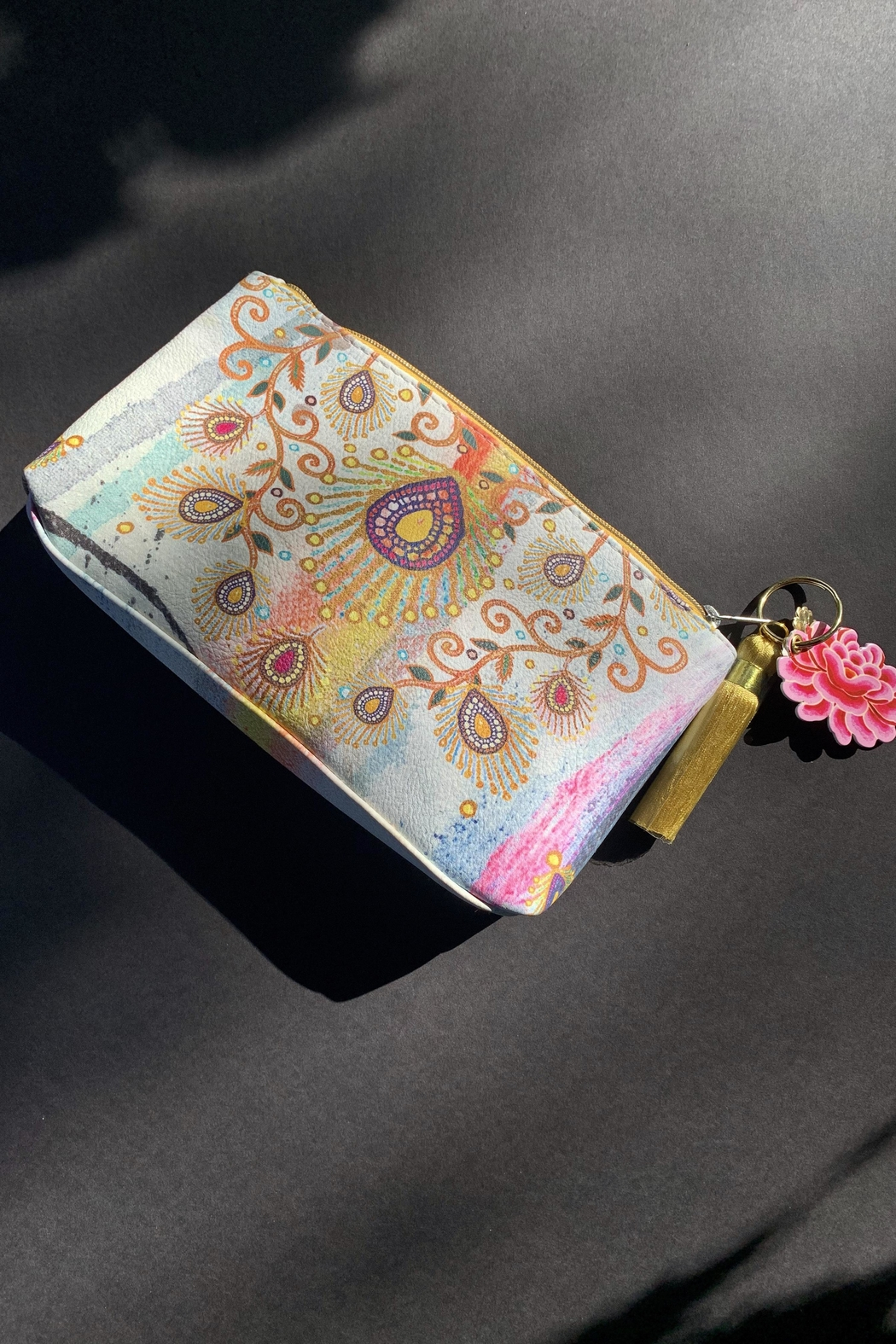 Papaya Peacock Pouch - Front Full Image