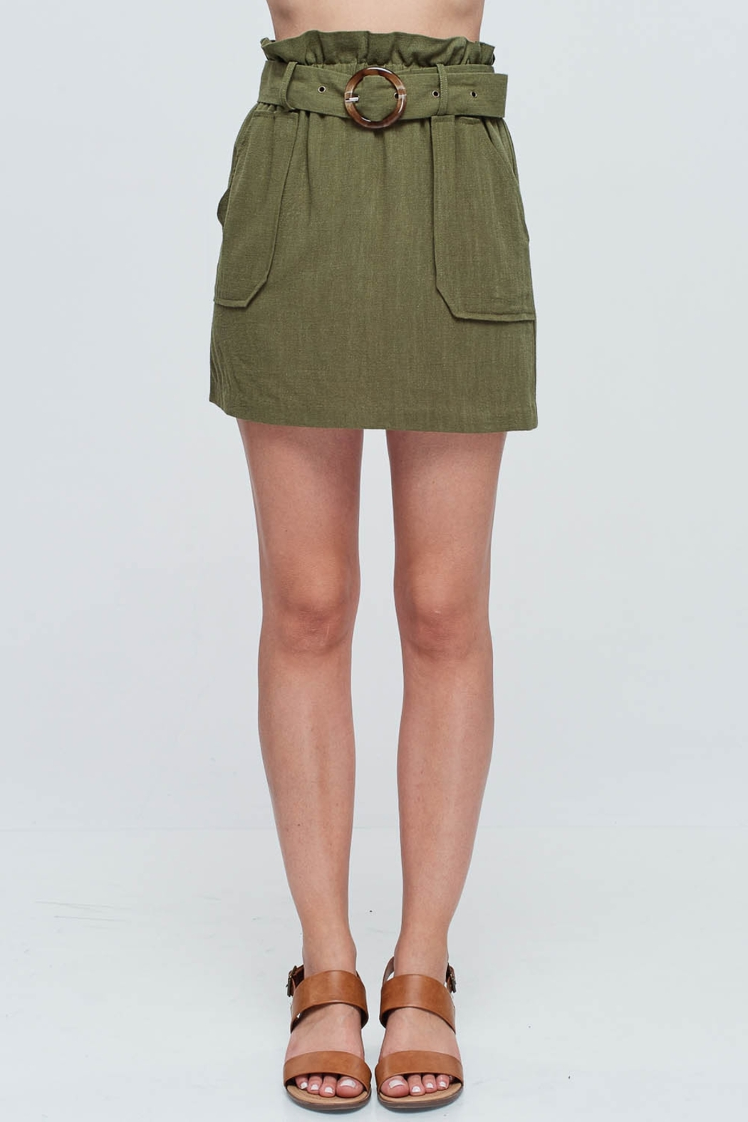 Lyn -Maree's Paper Bag Linen Skirt - Front Cropped Image