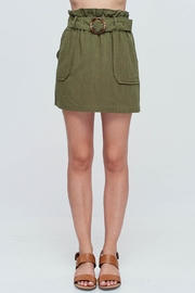 Lyn -Maree's Paper Bag Linen Skirt - Front cropped