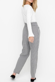 Lush Paper-Bag Pants, Gingham - Side cropped
