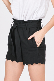 Lyn-Maree's  Paper Bag Scallop Shorts - Product Mini Image