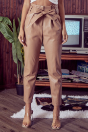 Do + Be  Paper Bag Waist Leather Pant - Product Mini Image