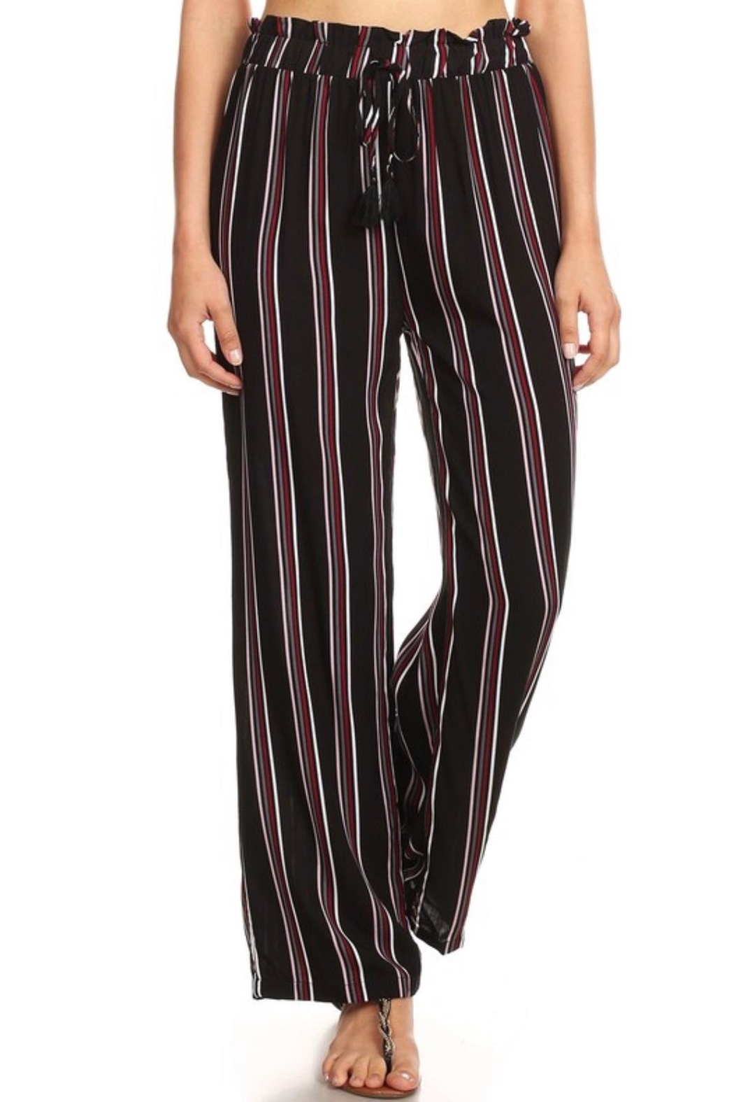 S&G Apparel Paper-Bag Waist Pants - Front Cropped Image