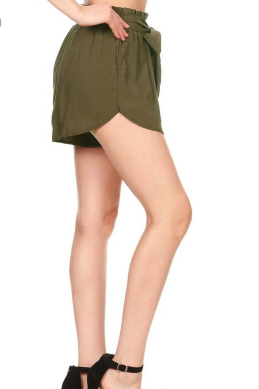 S&G Apparel Paper-Bag Waist Shorts - Side Cropped Image